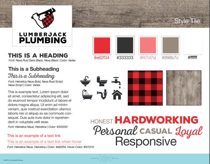 Lumberjack Plumbing Style Tile